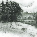 Kohle-Zeichnung